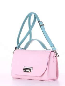 Стильная деловая сумочка, модель E18011 гортензия-мята. Изображение товара, вид сбоку.