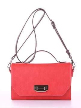 Брендовая деловая сумочка, модель E18013 красный-баклажан. Изображение товара, вид спереди.
