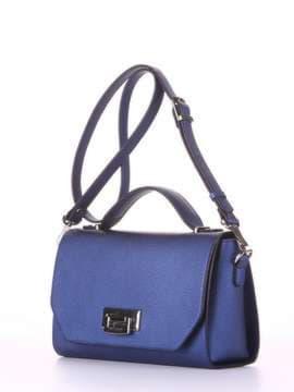 Молодежная деловая сумочка, модель E18015 сапфир. Изображение товара, вид сбоку.