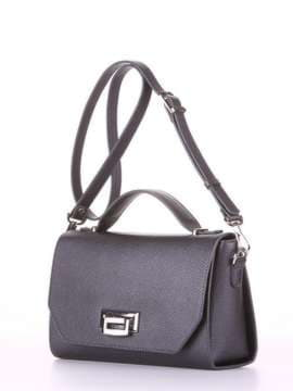 Молодежная деловая сумочка, модель E18016 графит. Изображение товара, вид сбоку.