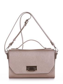 Стильная деловая сумочка, модель E18018 золотая олива. Изображение товара, вид спереди.