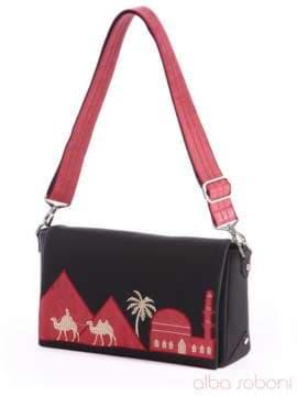 Стильный клатч с вышивкой, модель 162325 черный. Изображение товара, вид спереди.