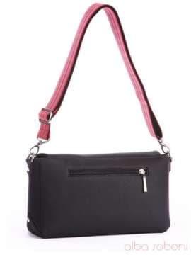 Стильный клатч с вышивкой, модель 162325 черный. Изображение товара, вид сбоку.