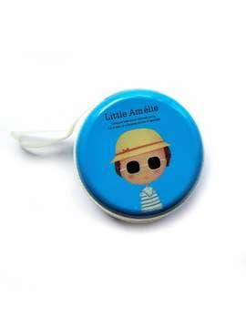 Молодіжний чохол для навушників для навушників з дівчиною синій. Зображення товару, вид 1