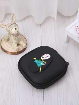 Модный брелок для наушников каонаси со спицами черный. Изображение товара, вид 2