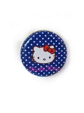 Модный чехол для наушников котенок синий/белый горох. Изображение товара, вид 1