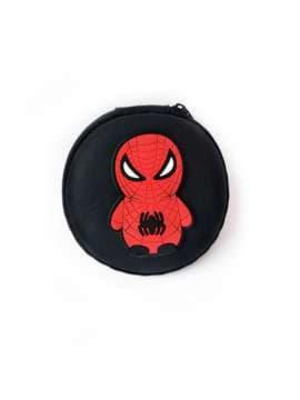 Стильний чохол для навушників паук чорний. Зображення товару, вид 1