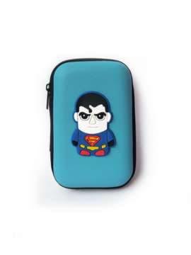 Брендовый чехол для наушников супер-герой светло-синий. Изображение товара, вид 1