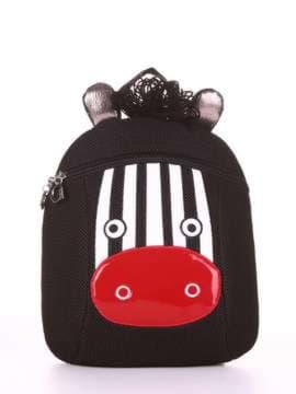 Модный рюкзак с вышивкой, модель 1901 черный. Изображение товара, вид сбоку.