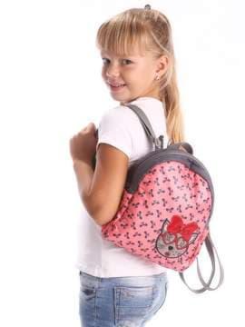 Стильный детский рюкзак с вышивкой, модель 1954 синий/белый горох. Изображение товара, вид дополнительный.