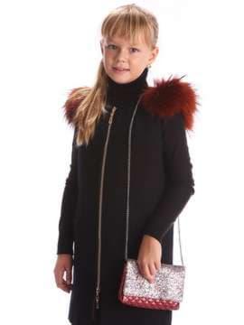 Стильная детская сумочка, модель 1922 черный. Изображение товара, вид дополнительный.