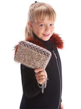 Стильная детская сумочка, модель 1923 бордо. Изображение товара, вид дополнительный.