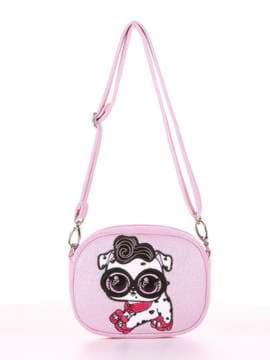 Стильная сумочка на пояс с вышивкой, модель 1914 розовый. Изображение товара, вид сбоку.
