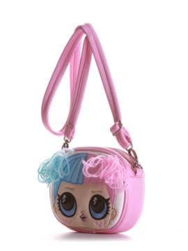 Стильная сумочка на пояс с вышивкой, модель 1962 розовый. Изображение товара, вид сбоку.