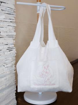 Фото товара: лляна сумка біла. Вид 1.