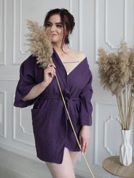 Фото товара: жіночий лляний халат