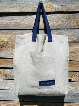 Фото товара: лляна сумка натуральна. Вид 1.