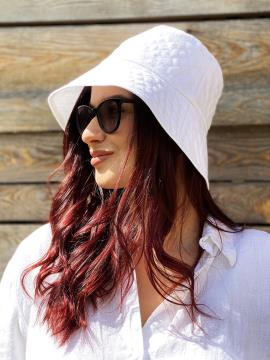 Фото товара: лляна жіноча панама біла. Вид 1.