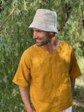 Фото товара: лляна панама унісекс натуральна. Вид 2.