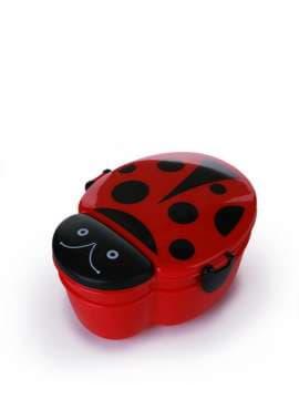 Стильний ланч-бокс божа корівка червоний. Зображення товару, вид 1