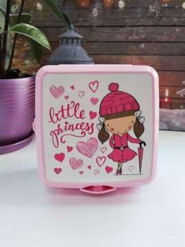 Молодіжний ланч-бокс  little princess рожевий. Зображення товару, вид 1