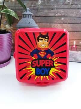 Стильний ланч-бокс super boy червоний. Зображення товару, вид 1