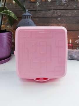 Модный ланч-бокс без рисунка розовый. Изображение товара, вид 1