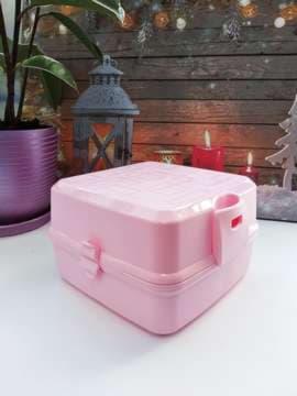 Модный ланч-бокс без рисунка розовый. Изображение товара, вид 2