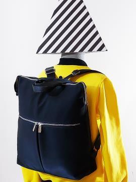 Фото товара: сумка-рюкзак MAN-005-2 черный. Вид 1.