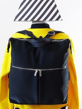 Фото товара: сумка-рюкзак MAN-005-2 черный. Вид 2.