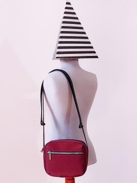 Фото товара: сумка через плечо MAN-006-4 бордо. Вид 1.