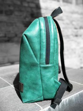 Фото товара: рюкзак MAN-001-2 зелений-нікель. Вид 2.