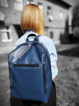 Фото товара: рюкзак MAN-002-1 синий. Вид 1.