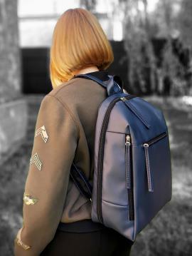 Фото товара: рюкзак MAN-002-1 синий. Вид 2.