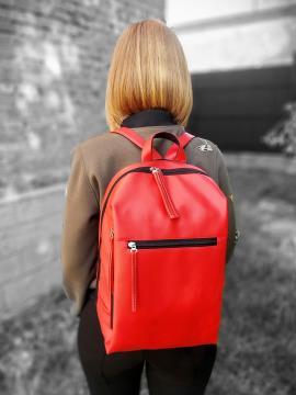Фото товара: рюкзак MAN-002-3 красный. Вид 1.