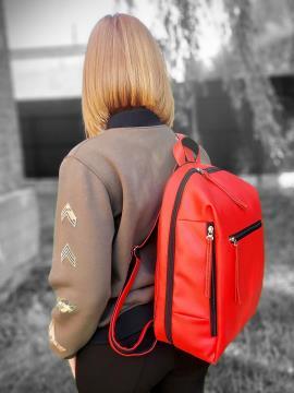 Фото товара: рюкзак MAN-002-3 красный. Вид 2.