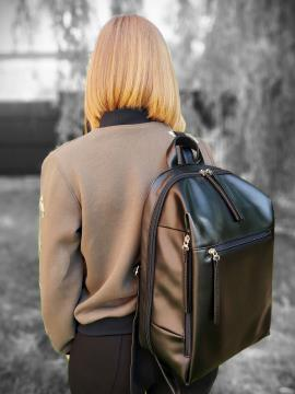 Фото товара: рюкзак MAN-002-6 чорний. Вид 1.