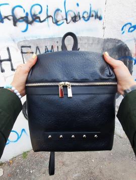 Фото товара: рюкзак MAN-014-1 черный. Вид 1.