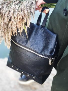 Фото товара: рюкзак MAN-014-1 чорний. Вид 2.