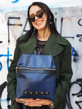 Фото товара: рюкзак MAN-014-2 синий. Вид 2.