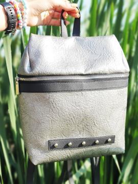 Фото товара: рюкзак MAN-014-3 нікель. Вид 1.