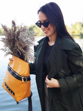 Фото товара: рюкзак MAN-014-4 желтый. Вид 2.