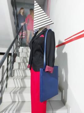 Фото товара: сумка MAN-003-3 синій. Вид 1.