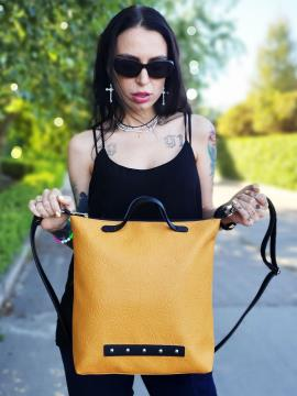 Фото товара: сумка MAN-013-4 желтый. Вид 1.