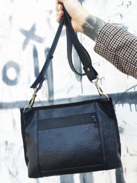 Фото товара: сумка через плече MAN-015-1 чорний. Вид 2.