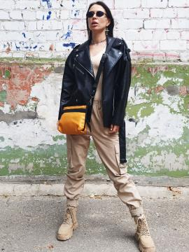 Фото товара: сумка через плечо MAN-015-4 желтый. Вид 1.