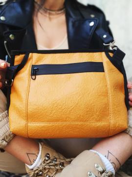 Фото товара: сумка через плече MAN-015-4 жовтий. Вид 2.