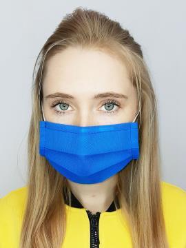 Фото товара: маска однослойная 002 синий. Вид 1.