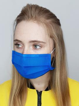 Фото товара: маска однослойная 002 синий. Вид 2.