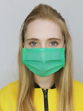 Фото товара: маска однослойная 003 зеленый. Вид 1.